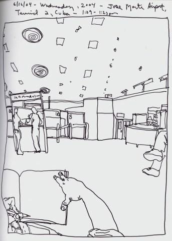 Sketchbook O 4- José Martí International Airport, Havana, Cuba 2004-100DPI rev