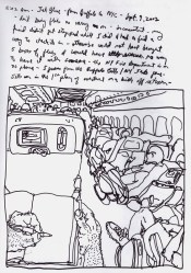 Sketchbook R 29 - Airplane - Buffalo to NYC