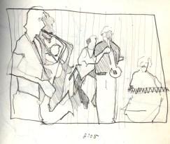 Sketchbooks B 5 - Jazz Club - Miami, FL