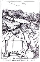 Sketchbooks P 15 - Half Moon Beach, Gloucester, MA