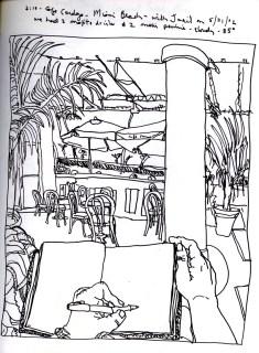 Sketchbooks R 3 - Cafe Cardozo - Miami Beach, FL