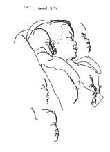 Sketchbooks K 50 - Graciela in Hamot Hospital - Erie, PA