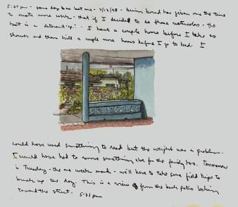 Sketchbooks Q 7 - Patio - Agramonte, Cuba