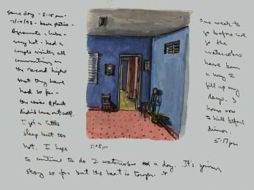 Sketchbooks Q 9 - Back Patio - Agramonte, Cuba