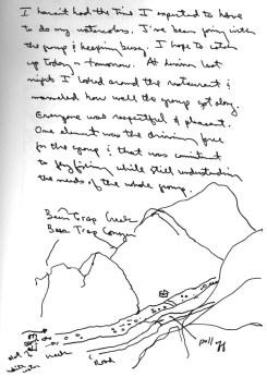Sketchbooks S 4 - Map of Bear Trap Canyon - Montana