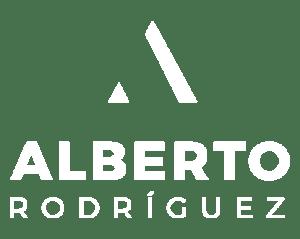 Logo Alberto Rodríguez (blanco)
