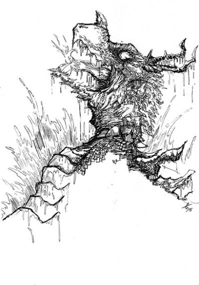 Il drago spalancò le fauci e con un unico rapido movimento inghiottì la creatura di tenenbra.