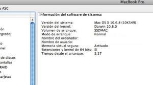 snowleopard 10.6.8 64bits + ssd