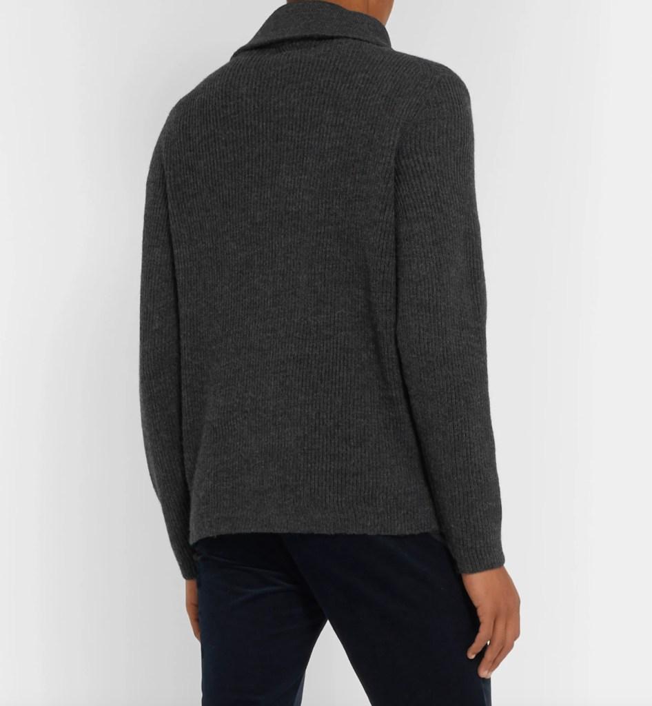 NN07 Holger Ribbed Mélange Wool Half-Zip Sweater