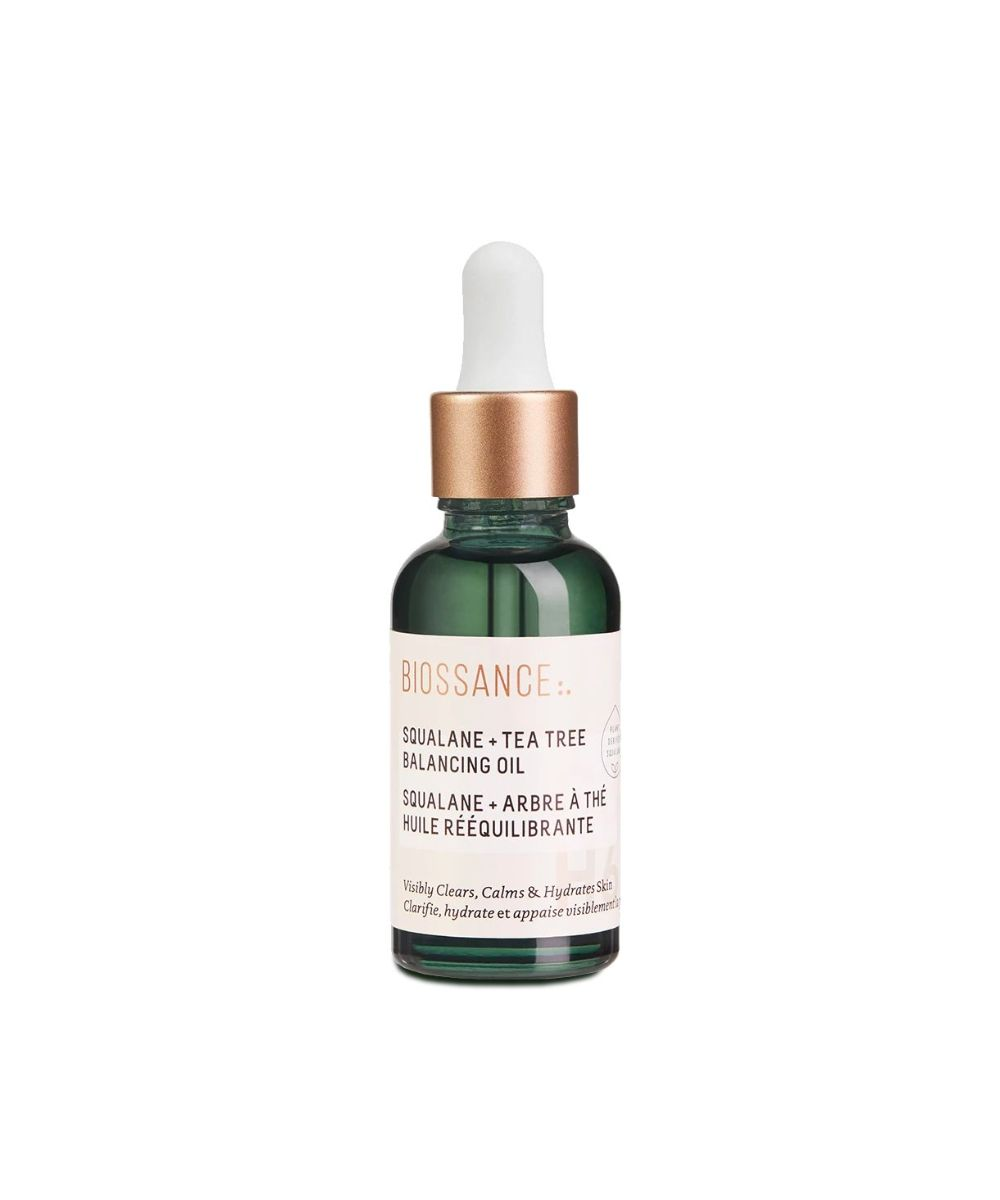acne facial oil biossance tea tree