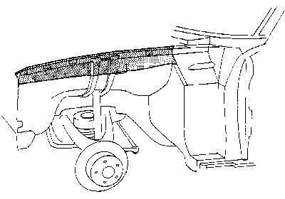 Bevestigingsplaat voorscherm Links , Mercedes W114 W115 /8