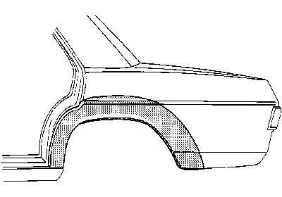 Wielschermrand achter 4-d. Rechts , Mercedes W114 W115 /8