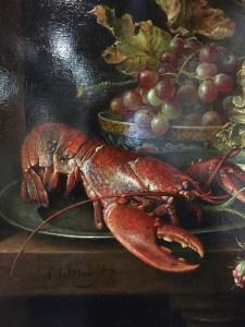 Detail van schilderij van Cornelis le Mair.