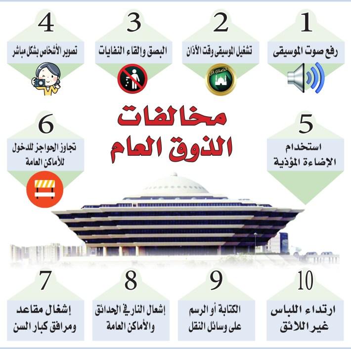 لائحة الذوق العام احترام القيم والعادات والتقاليد والثقافة السائدة صحيفة البلاد