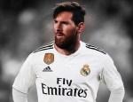 ميسي بقميص ريال مدريد