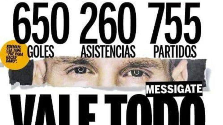 الصحافة الأرجنتينية تدافع عن ميسي ضد إل موندو الإسبانية