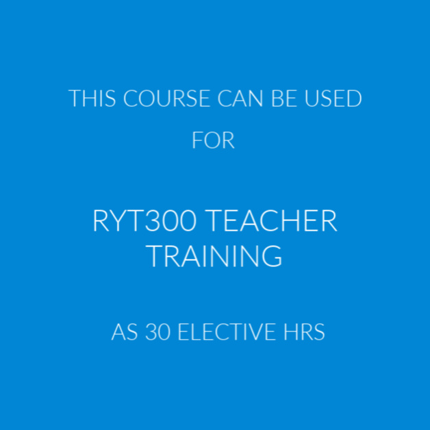 RYT300 Yoga Teacher TRAINING