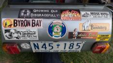 bumper sticker collection of a Ulysses member