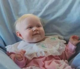 Kayla Flanary as an infant