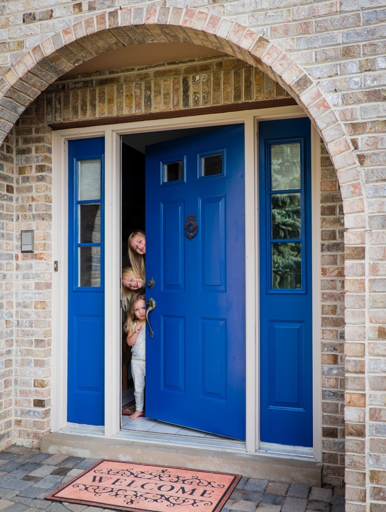"""Front Door Paint in """"Calm"""" from Modern Masters"""