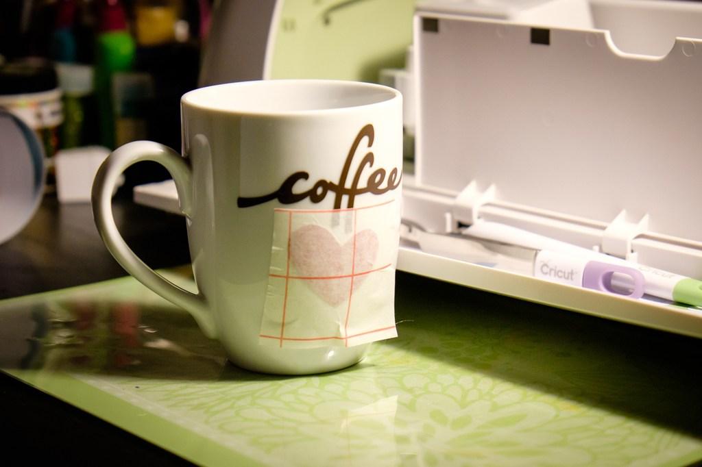 coffee love vinyl mug