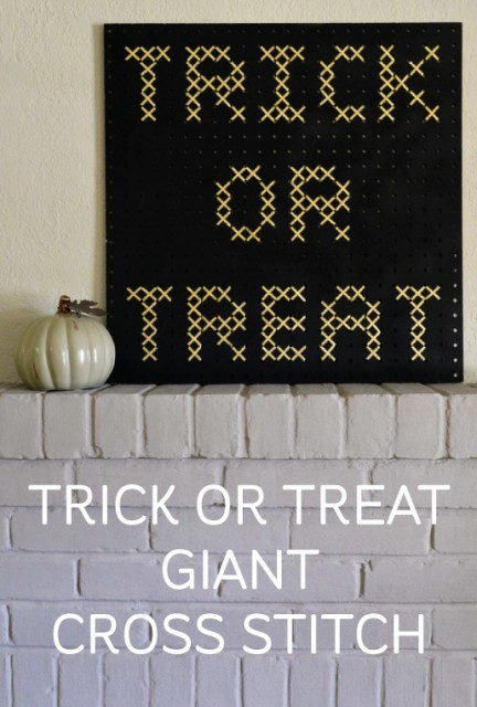 Trick or Treat Giant Cross Stitch