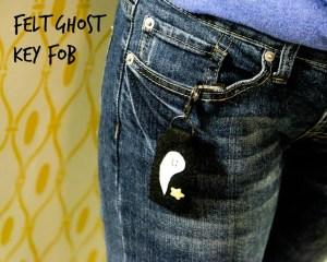 Felt Ghost Key Fob