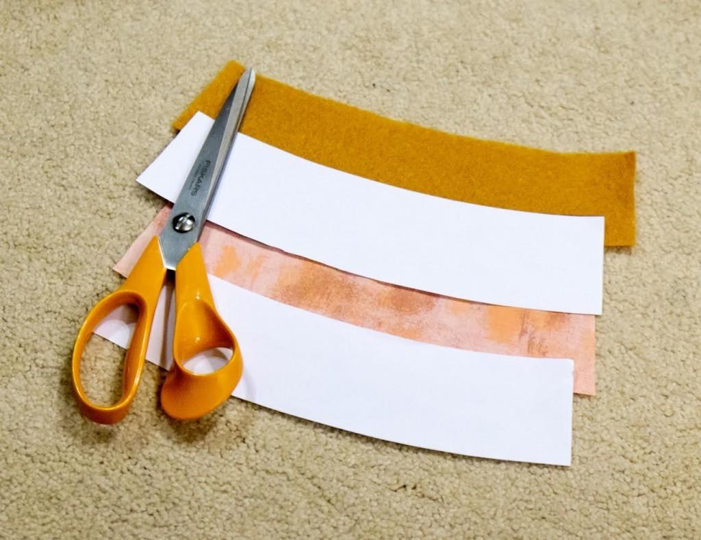 cut your fabric and felt