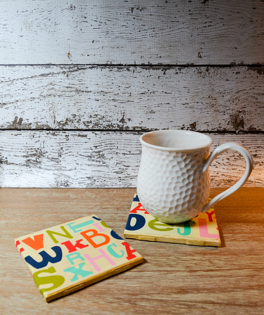 Teacher Appreciation Alphabet Coasters