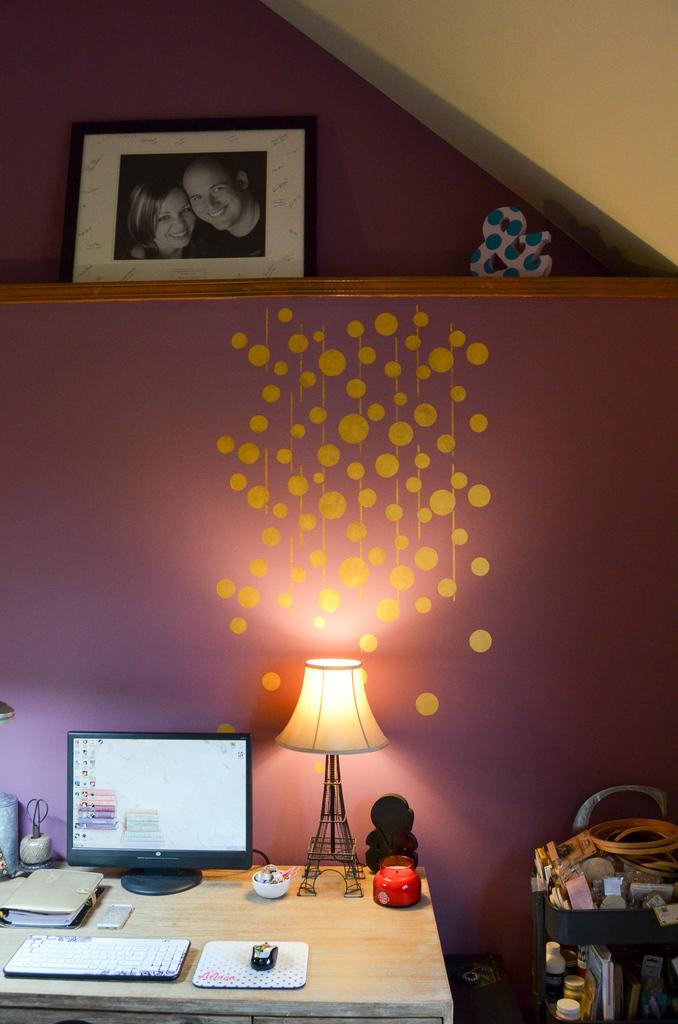 Uzma Circles Stencil Wall Feature