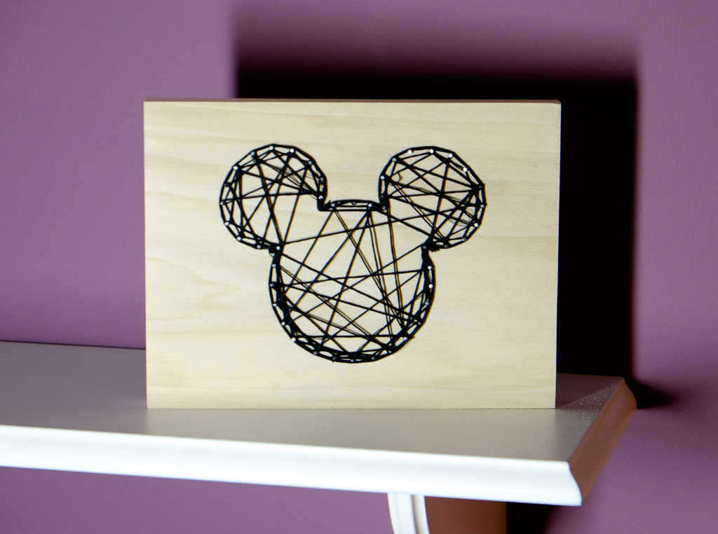 Mickey Mouse String Art