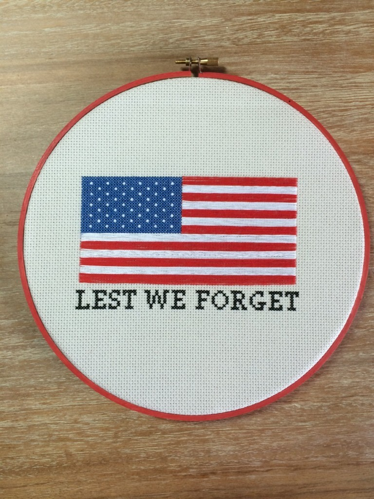 Lest We Forget Free Cross Stitch Pattern