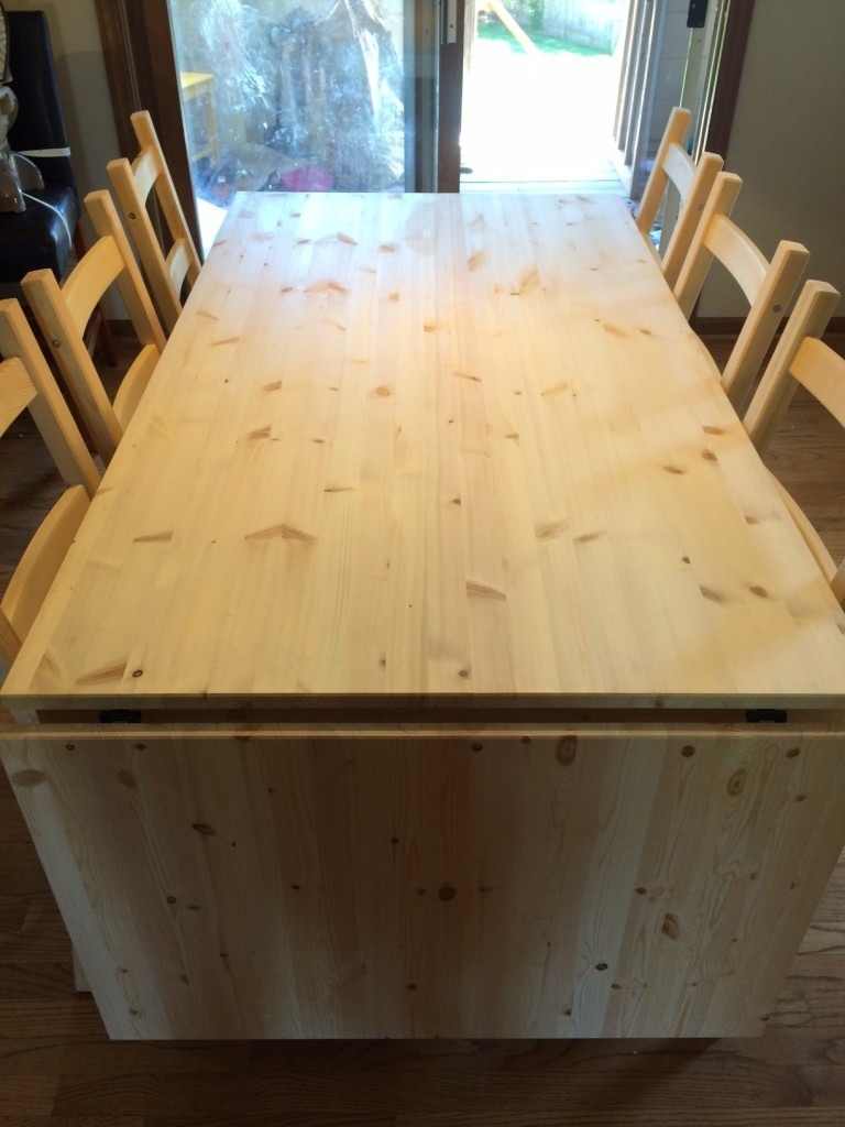 built table