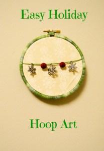 Easy Holiday Hoop Art