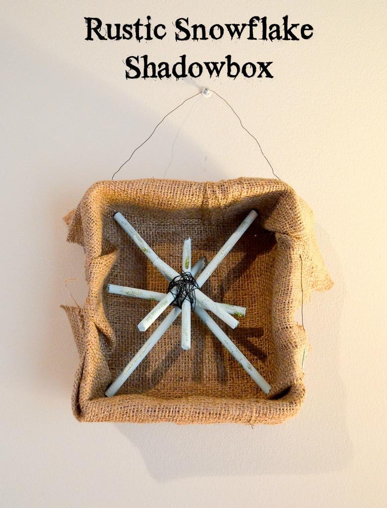 Rustic Snowflake Shadowbox