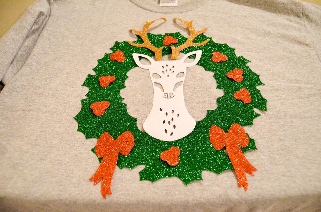 reindeer wreath