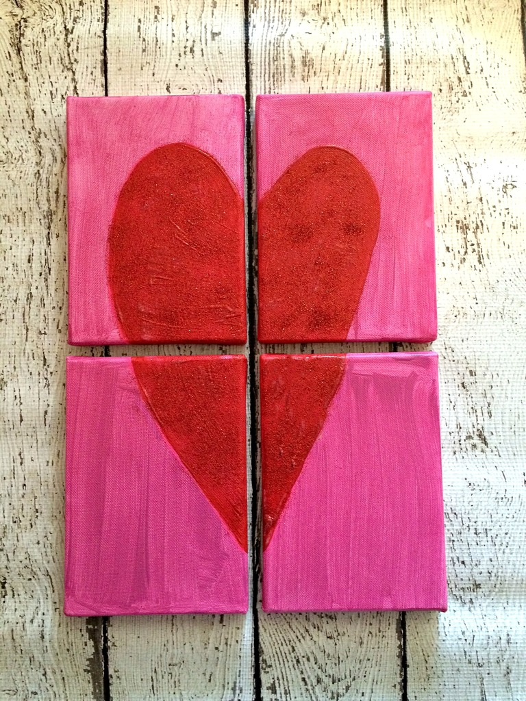 Valentine's Heart Canvas