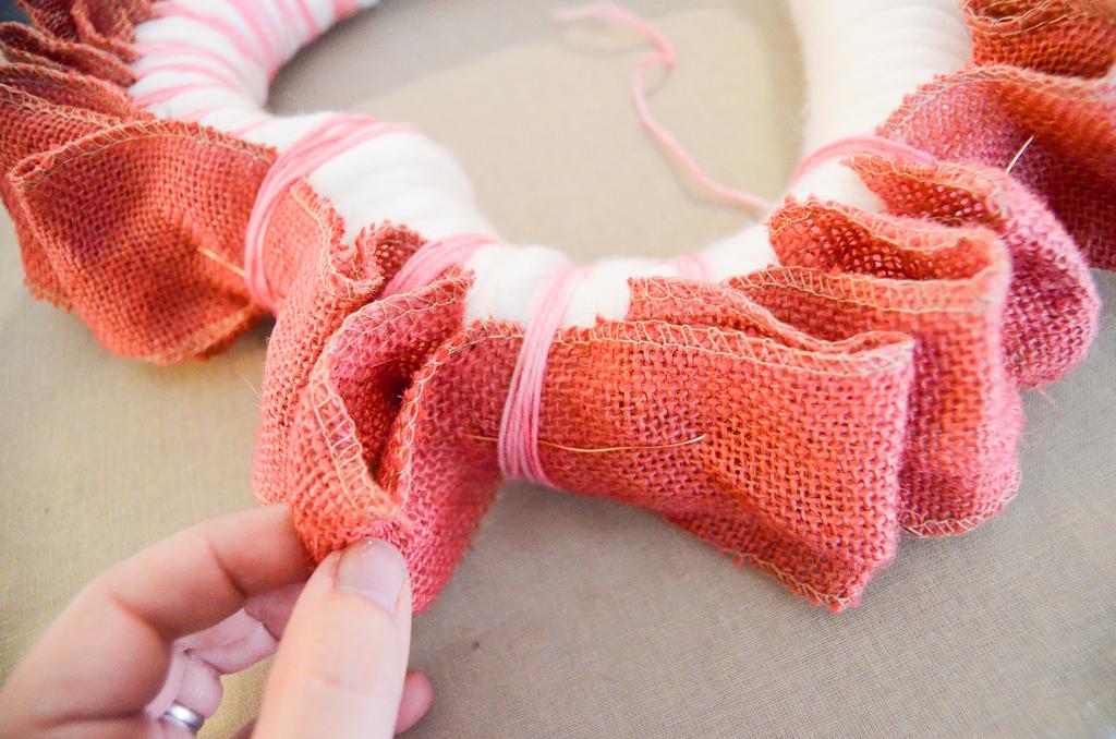 wrap the ribbon