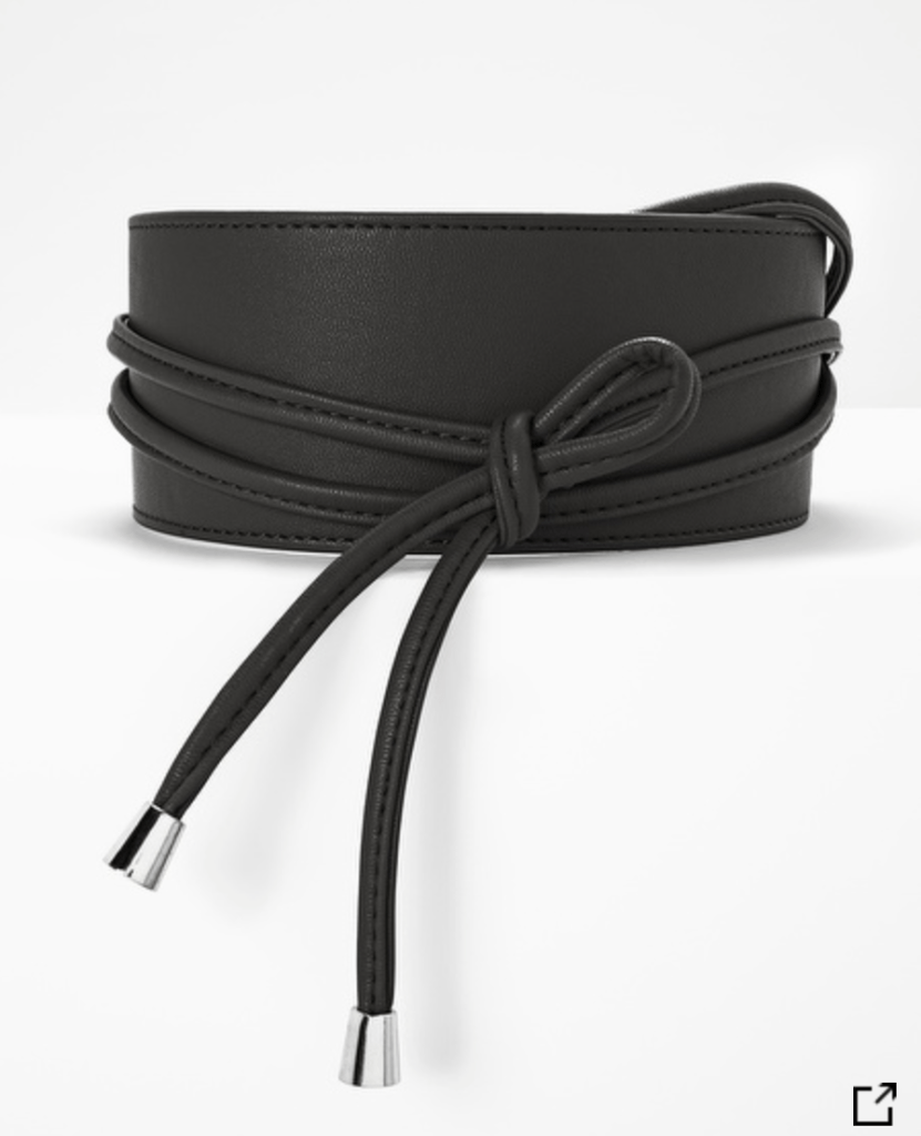 Obi Wrap Silvertone Hardware Belt