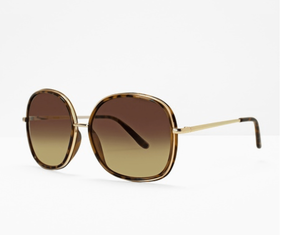 Round Metal Sunglasses in Tortoise