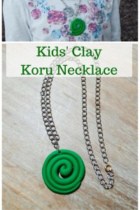 Kids' Clay Koru Necklace