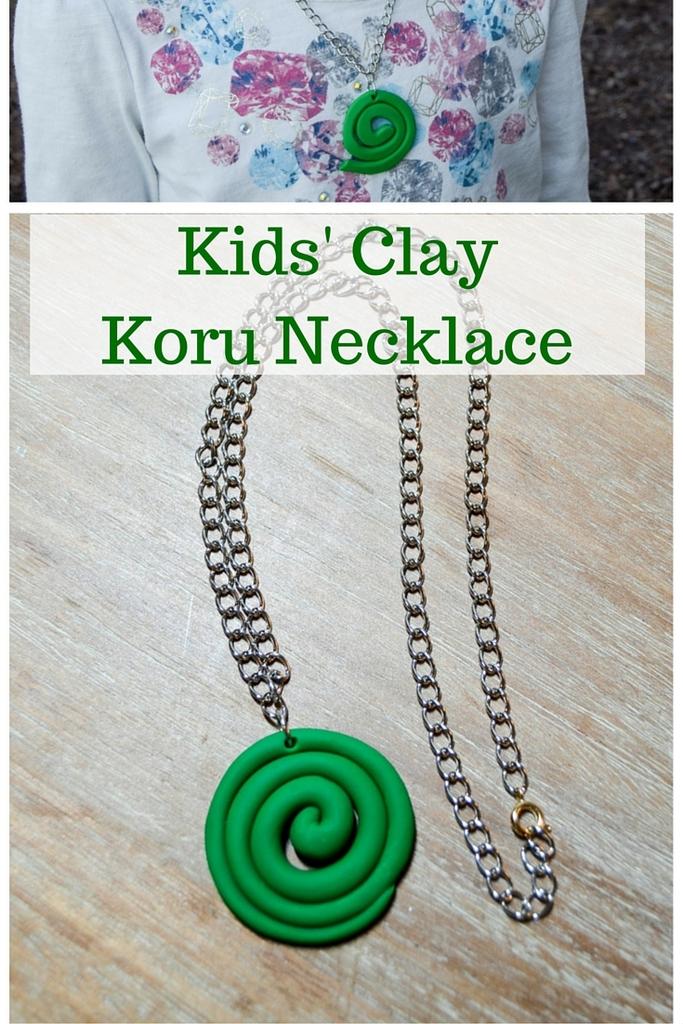 Kids' Clay Koru Necklace