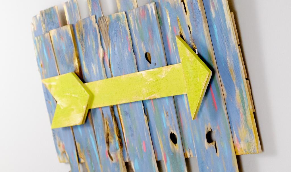 Rustic Wooden Arrow Wall Art