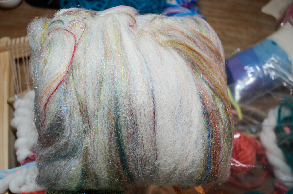 sparkly roving
