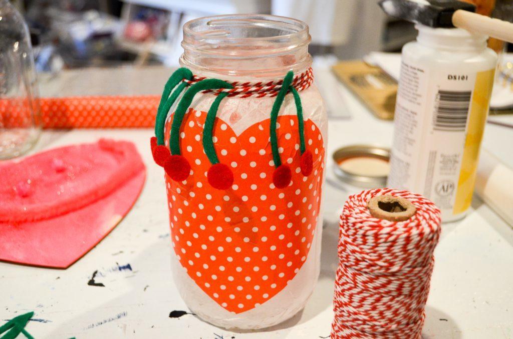 cherry mason jar