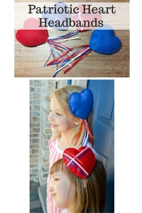 Patriotic Heart Headbands