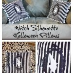 Witch Silhouette Halloween Pillow