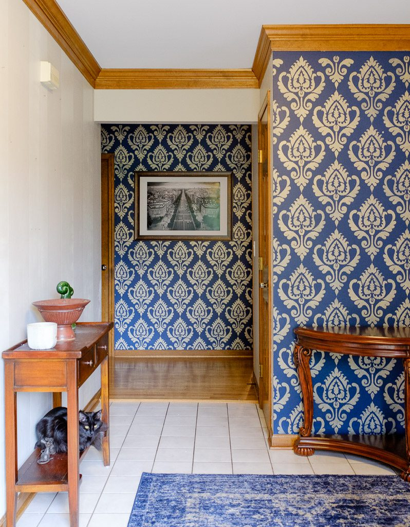 Stenciled Entry Wall