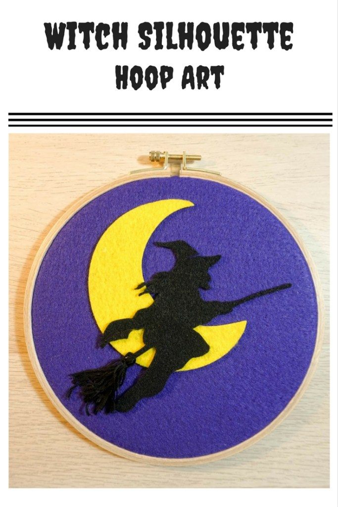 Witch Silhouette Hoop Art