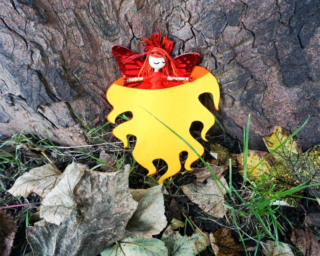 Fire Fairy Floss Doll
